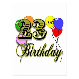 Happy 23rd Birthday Merchandise Postcard