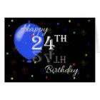 Happy 24th Birthday Card