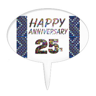 Happy 25 25th Anniversary gifts Cake Topper