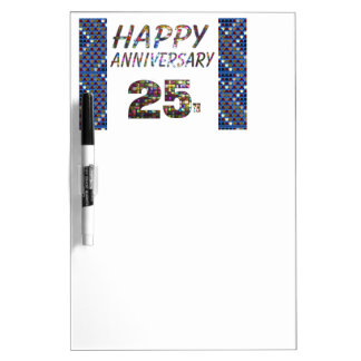 Happy 25 25th Anniversary gifts Dry-Erase Board