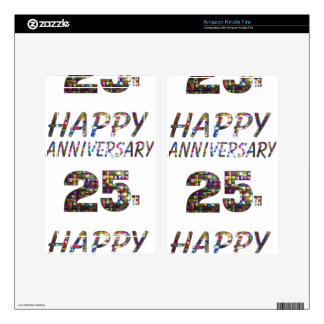 Happy 25 25th Anniversary gifts Kindle Fire Decal