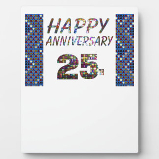 Happy 25 25th Anniversary gifts Plaque