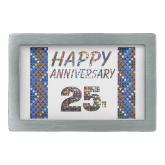 Happy 25 25th Anniversary gifts Rectangular Belt Buckle