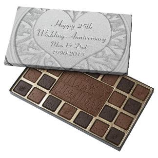 Happy 25th Anniversary 45 Piece Box Of Chocolates