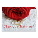 Happy 25th Anniversary roses Greeting Card