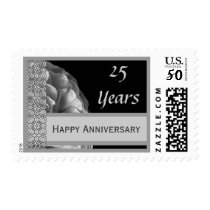 Happy 25th Anniversary - Shades of Silver A001 Postage