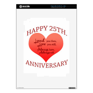Happy 25th Anniversary Skin For The iPad 2
