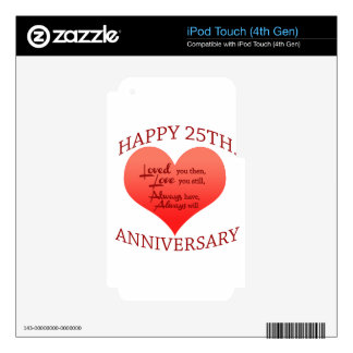Happy 25th Anniversary Skins For iPod Touch 4G