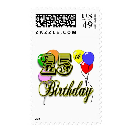 Happy 25th Birthday Merchandise Postage