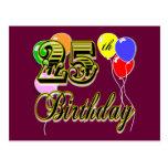 Happy 25th Birthday Merchandise Postcard