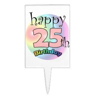 Happy 25th Birthday (pink) Cake Topper