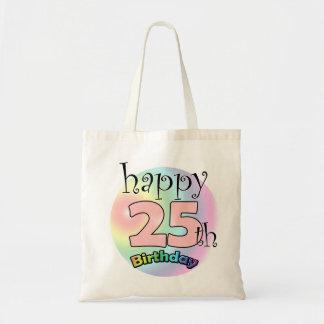 Happy 25th Birthday Tote Bag