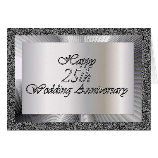 Happy 25th Wedding Anniversary Card Zazzle Com