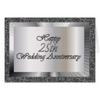 Happy 25th Wedding Anniversary Greeting Cards