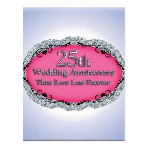 Happy th wedding anniversary greeting cards postcard