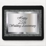 Happy 25th Wedding Anniversary Mouse Mat