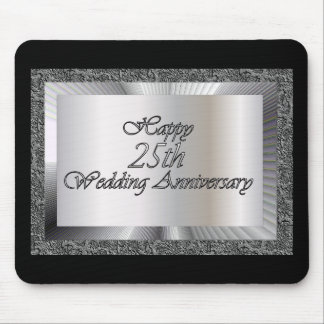 Happy 25th Wedding Anniversary Mouse Pad