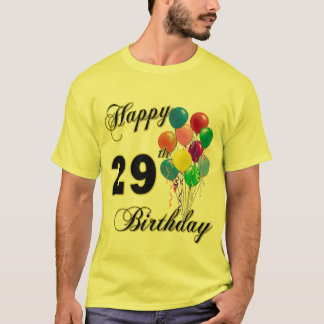 Happy 29th Birthday Balloons T-Shirt