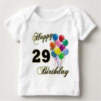 Happy 29th Birthday Balloons T Shirt