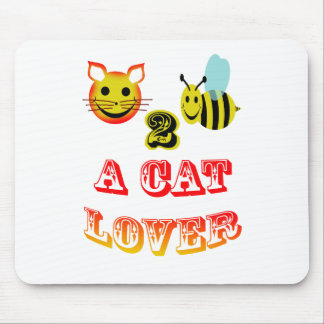 happy 2 bee a cat lover mouse pad