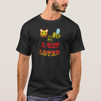happy 2 bee a cat lover T-Shirt