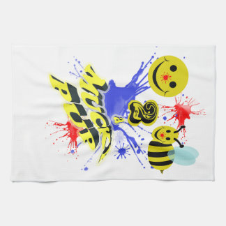 happy 2 bee a mucky pup kitchen towel