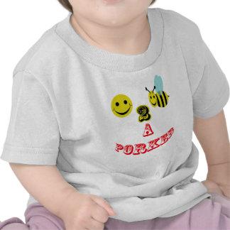 happy 2 bee a porker. t-shirt