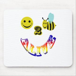happy 2 bee alive mouse pad