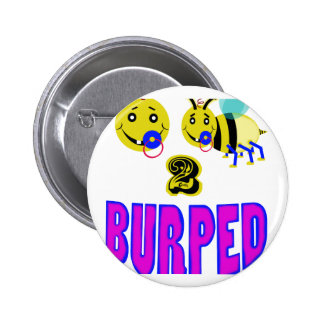 Happy 2 bee burped button