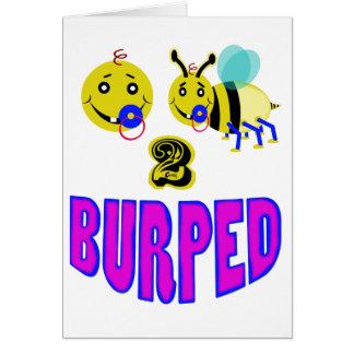 Happy 2 bee burped card