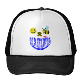 happy 2 bee caravaning trucker hat