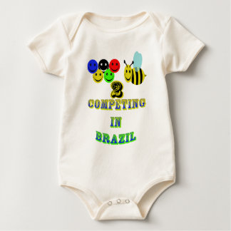 happy 2 bee competing in brazil baby bodysuit