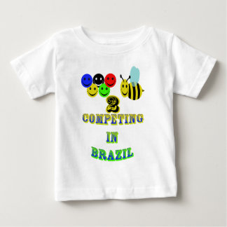 happy 2 bee competing in brazil baby T-Shirt
