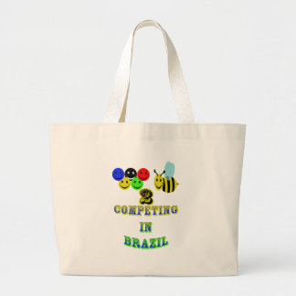 happy 2 bee competing in brazil tote bags