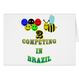 happy 2 bee competing in brazil card