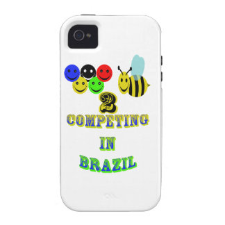 happy 2 bee competing in brazil case for the iPhone 4