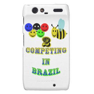 happy 2 bee competing in brazil motorola droid RAZR cover