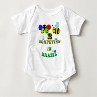 happy 2 bee competing in brazil cotestants baby bodysuit