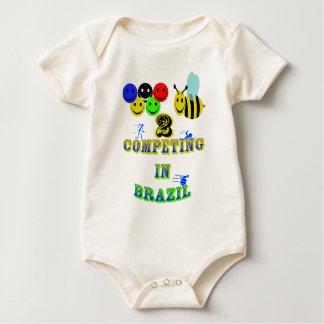happy 2 bee competing in brazil cotestants baby bodysuit