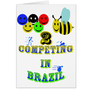 happy 2 bee competing in brazil cotestants card