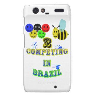 happy 2 bee competing in brazil cotestants motorola droid RAZR case