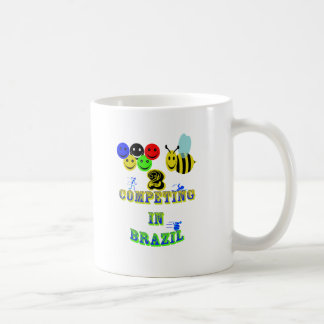happy 2 bee competing in brazil cotestants coffee mug