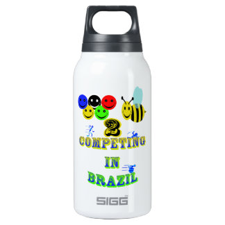 happy 2 bee competing in brazil cotestants insulated water bottle