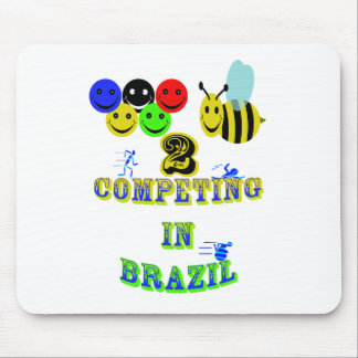 happy 2 bee competing in brazil cotestants mouse pad