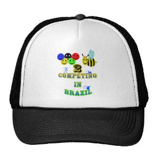 happy 2 bee competing in brazil cotestants trucker hat