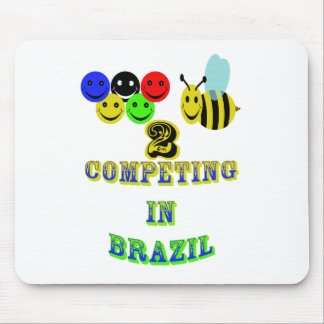 happy 2 bee competing in brazil mouse pad