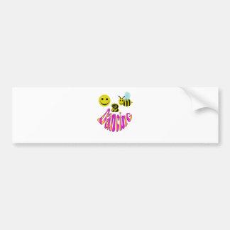 happy 2 bee dancing bumper sticker