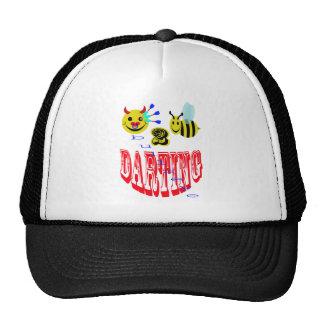 happy,2 bee darting trucker hat