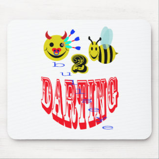 happy,2 bee darting mouse pad