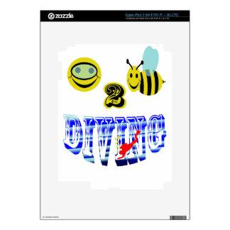 happy 2 bee diving iPad 3 decal